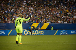 July 19, 2017 - Philadelphia, Pennsylvania, U.S - United States of America goalkeeper TIM HOWARD (24) during CONCACAF Gold Cup 2017 quarterfinal action at Lincoln Financial Field in Philadelphia, PA.  USA  defeats El Salvador 2 to 0. (Credit Image: © Mark Smith via ZUMA Wire)