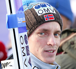 14.01.2016, Kulm, Bad Mitterndorf, AUT, FIS Skiflug WM, Kulm, Qualifikation, im Bild Anders Fannemel (NOR) // Anders Fannemel of Norway after his Qualification Jump of FIS Ski Flying World Championships at the Kulm, Bad Mitterndorf, Austria on 2016/01/14, EXPA Pictures © 2016, PhotoCredit: EXPA/ Martin Huber