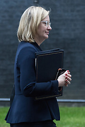 Downing Street, London, January 10th 2017. Home Secretary Amber Rudd leaves the weekly UK cabinet meeting at 10 Downing Street as the new Parliamentary term begins.