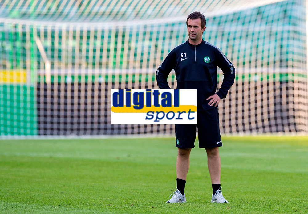 29/07/14<br /> CELTIC TRAINING<br /> PEPSI ARENA - WARSAW<br /> Celtic manager Ronny Deila trains his players in the Pepsi Stadium ahead of the UEFA Champions League Third Qualifying Round clash with Legia Warsaw