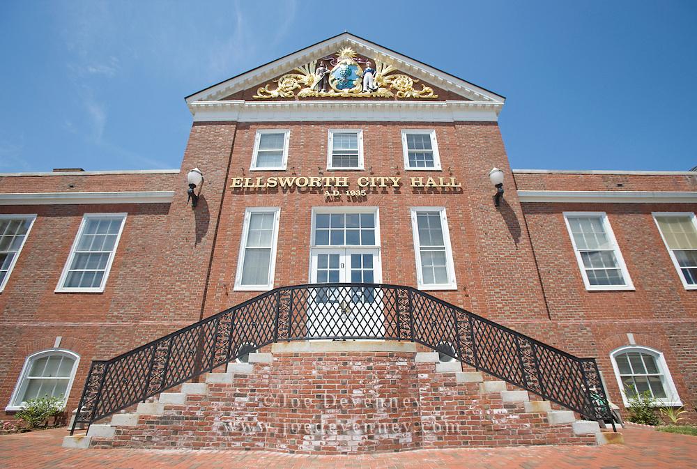 The City Hall municipal building. Ellsworth, Maine