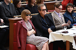 File photo : Mario Testino, Anna Wintour during the Chanel show as part of the Paris Fashion Week Womenswear Fall/Winter 2015/2016 on March 10, 2015 in Paris, France. Photographer to the stars Mario Testino is a favourite of the Royal Family but he is facing a stream of sexual misconduct allegations from male models. Fashion brands Burberry and Michael Kors moved quickly to cut ties with him. He had been a front-runner to be the official photographer at the wedding of Prince Harry and Meghan Markle but has been ruled out following the uproar. Photo by Nicolas Gouhier/ABACAPRESS.COM