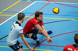 Finn Frielink of Taurus in action during the league match Taurus - Amysoft Lycurgus on January 16, 2021 in Houten.