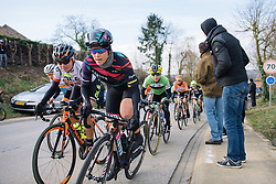 Tiffany Cromwell leads the chase of the breakaway with 3 laps to go - 2016 Omloop van het Hageland - Tielt-Winge, a 129km road race starting and finishing in Tielt-Winge, on February 28, 2016 in Vlaams-Brabant, Belgium.