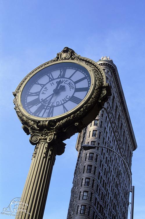 5th Avenue Building Clock & Flatiron Building, 23rd Street, Manhattan, New York