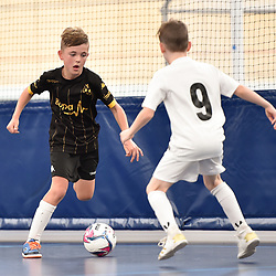 BRISBANE, AUSTRALIA - NOVEMBER 14:  during the QLD Futsal Junior Superliga match between Elitefoot u9 Black and u9 Bulimba FC at Anna Meares Velodrome on November 14, 2020 in Brisbane, Australia. (Photo by Patrick Kearney)