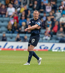 Dundee's Kenny Miller gets the captains armband during the first half. Dundee 1 v 3 Motherwell, SPFL Ladbrokes Premiership game played 1/9/2018 at Dundee's Kilmac stadium Dens Park