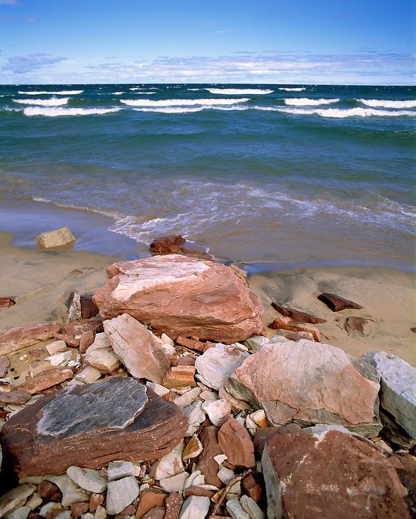 Shores of Lake Superior, at Pictured Rocks National Lakeshore, Michigan.
