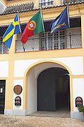 Entrance to the winery. JM Jose Maria da Fonseca, Azeitao, Setubal, Portugal