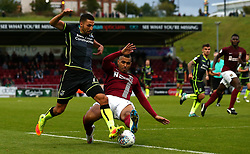 Liam Sercombe of Bristol Rovers is tackled by Lewis McGugan of Northampton Town - Mandatory by-line: Robbie Stephenson/JMP - 07/10/2017 - FOOTBALL - Sixfields Stadium - Northampton, England - Northampton Town v Bristol Rovers - Sky Bet League One