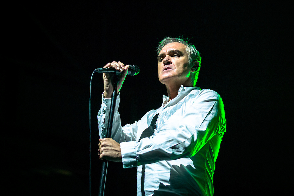 """MORRISSEY live at Palladium Cologne during """"The World Peace Is None of Your Business"""" Tour 2015. The lyricist and vocalist of the former rock band The Smiths is an important innovator in the indie music scene and known for his contrarian opinions and as a fiercful animal protectionist.<br /> <br /> © IRIS EDINGER   Photography"""