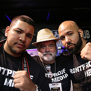 fights with   during the Mad Integrity Fight sports boxing match at the Florida Orange Event Center in Lakeland, Florida on Saturday October 10, 2015. Photo: Alex Menendez