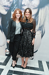 Left to right, ANGELA SCANLON and ATLANTA DE CADENET TAYLOR at a dinner to celebrate the exclusive Capsule collection: Maison Michel by Karl Lagerfeld held at Selfridges, 400 Oxford Street, London on 23rd February 2015.
