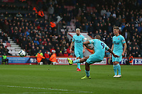 Football - 2018 / 2019 Premier League - AFC Bournemouth vs. Newcastle United<br /> <br /> Salomon Rondon of Newcastle United fire in his free kick to open the scoring at the Vitality Stadium (Dean Court) Bournemouth <br /> <br /> COLORSPORT/SHAUN BOGGUST