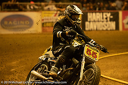 Born-Free 10 Stampede flat track races in the City of Industry where classes ranged from Pull Start minis, Tank Shift, Vintage Singles & Open Twins, XR 75, ladies, Hooligans and more. Thursday night before the big chopper show June 21, 2018. Photography ©2018 Michael Lichter.