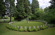 ST SYMPHORIEN CEMETERY, MONS, BELGIUM, WHERE,  ' HERE REPOSE 46 ENGLISH SOLDIERS OF THE ROYAL MIDDLESEX REGIMENT', WHO ALL DIED ON 23 AUGUST 1914 AND WHERE BRITISH AND GERMAN DEAD FROM WW1 LIE SIDE BY SIDE. . EUROPE. THE WW1-1914-1918 CEMETERIES AND MEMORIALS MAINTAINED BY THE COMMONWEALTH WAR GRAVES COMMISSION..COPYRIGHT PHOTOGRAPH BY BRIAN HARRIS  © 2006.0044(0)7808-579804-brianharrisphoto@ntlworld.com OR brian@brianharrisphotographer.co.uk