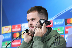 November 21, 2017 - Turin, Piedmont, Italy - Miralem Pjanić during the Juventus FC press conference on the eve of the UEFA Champions League (Group D) match between Juventus FC and FC Barcelona at Allianz Stadium on 21 November, 2017 in Turin, Italy. (Credit Image: © Massimiliano Ferraro/NurPhoto via ZUMA Press)