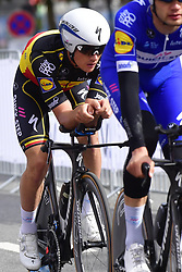 September 22, 2018 - Innsbruck, Autriche - Equipe  Team QUICK - STEP FLOORS and LAMPAERT Yves (BEL)  of Quick - Step Floors in action (Credit Image: © Panoramic via ZUMA Press)