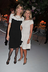 Left to right, FIONA SANGSTER and SUSAN SANGSTER at a dinner hosted by Cartier following the following the opening of the Chelsea Flower Show 2012 held at Battersea Power Station, London on 21st May 2012.