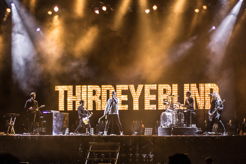 Third Eye Blind performing at Summerfest in Milwaukee, WI on July 4, 2017.