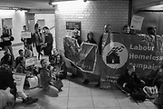 Demonstration about homeless deaths at Westminster underground station. 9 September 2019