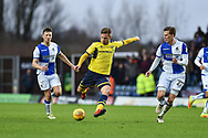 Oxford United Midfielder, James Henry (17) with a shot at goal during the EFL Sky Bet League 1 match between Oxford United and Bristol Rovers at the Kassam Stadium, Oxford, England on 10 February 2018. Picture by Adam Rivers.