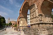 Galerius Arch of Triumph. Rotonda church. Thessaloniki, Macedonia, Greece