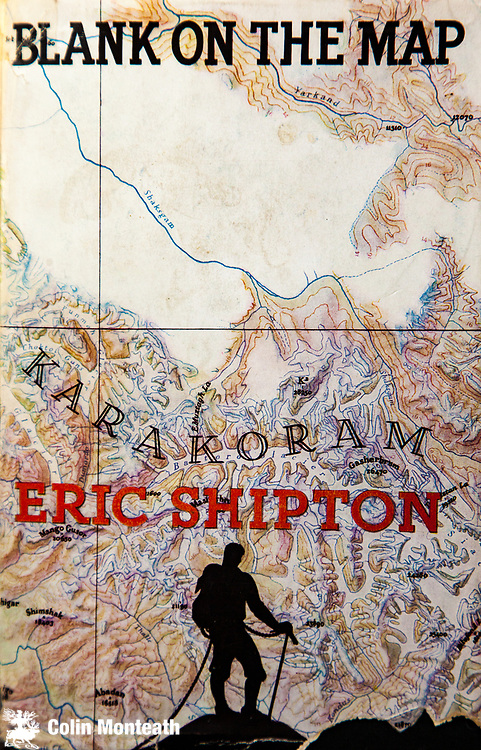 Blank on the map, Eric Shipton, 1937, Hodder & Stoughton, artwork by Bip Pares