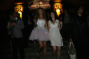 Tamsin Egerton and Bryony Cook, Moet Mirage, Holland Park. 16 September 2007. -DO NOT ARCHIVE-© Copyright Photograph by Dafydd Jones. 248 Clapham Rd. London SW9 0PZ. Tel 0207 820 0771. www.dafjones.com.