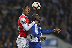 November 10, 2018 - Porto, Porto, Portugal - Porto's Malian forward Moussa Marega (R) vies with Sporting Braga's Brazilian defender Pablo Santos (L) during the Premier League 2018/19 match between FC Porto and SC Braga, at Dragao Stadium in Porto on November 9, 2018. (Credit Image: © Dpi/NurPhoto via ZUMA Press)