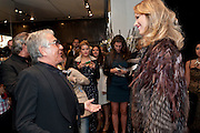 ROBERTO CAVALLI; EVA HERZIGOVA, Party to celebrate the launch of the new Cavalli Store. Roberto Cavalli. Sloane st. London. 17 September 2011. <br /> <br />  , -DO NOT ARCHIVE-© Copyright Photograph by Dafydd Jones. 248 Clapham Rd. London SW9 0PZ. Tel 0207 820 0771. www.dafjones.com.