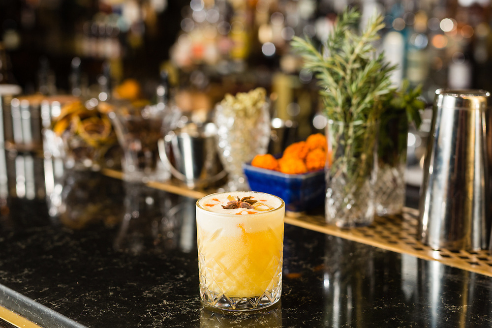 Gatsby's Local Pride cocktail at Gatsby Cocktail Room in Jerusalem, Israel, on November 21, 2017.