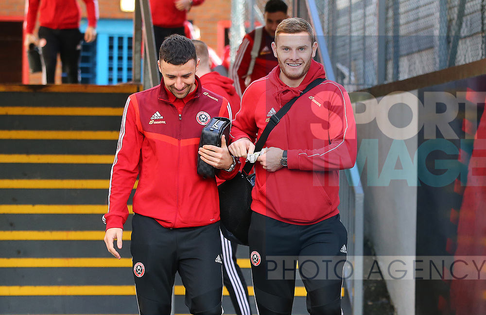 Sheffield United's Enda Stevens and Jack O'Connell arrive ahead of the Premier League match at Selhurst Park, London. Picture date: 1st February 2020. Picture credit should read: Paul Terry/Sportimage