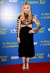 Chloe Grace Moretz attending the Gala Screening of The Miseducation of Cameron Post held at the PictureHouse Central, London. Photo credit should read: Doug Peters/EMPICS