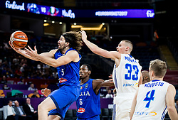 Ariel Filloy of Italy vs Erik Murphy of Finland during basketball match between National Teams of Finland and Italy at Day 10 in Round of 16 of the FIBA EuroBasket 2017 at Sinan Erdem Dome in Istanbul, Turkey on September 9, 2017. Photo by Vid Ponikvar / Sportida