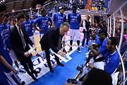 DESCRIZIONE : Brindisi Lega A 2014-15 <br /> Enel Brindisi Sidigas Avellino<br /> GIOCATORE : Bucchi Piero <br /> CATEGORIA : Allenatore Coach Time Out<br /> SQUADRA : Enel Brindisi<br /> EVENTO : Lega A 2014-15 <br /> GARA : Enel Brindisi Sidigas Avellino<br /> DATA : 27/04/2015<br /> SPORT : Pallacanestro<br /> AUTORE : Agenzia Ciamillo-Castoria/M.Longo<br /> Galleria : Lega Basket A 2014-2015<br /> Fotonotizia : Brindisi Lega A 2014-15 <br /> Enel Brindisi Sidigas Avellino<br /> Predefinita :