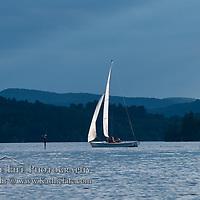 Sailing on Squam Lake, New Hampshire.