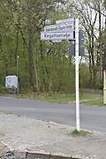 Berlin GERMANY. Street Signs.    Berlin Grunau Spring Regatta[Berliner Fruh-Regatta 2010 Berlin-Grunau.].  Saturday   24/04/2010.  [Mandatory Credit. Peter Spurrier/Intersport Images].