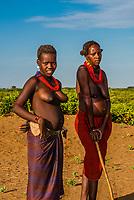 Dassanach tribe women, Omo Valley, Ethiopia.