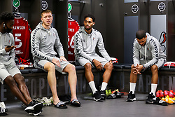 Alfie Mawson and Zak Vyner of Bristol City look on in the home dressing room - Rogan/JMP - 27/09/2020 - Ashton Gate Stadium - Bristol, England - Bristol City v Sheffield Wednesday - Sky Bet Championship.