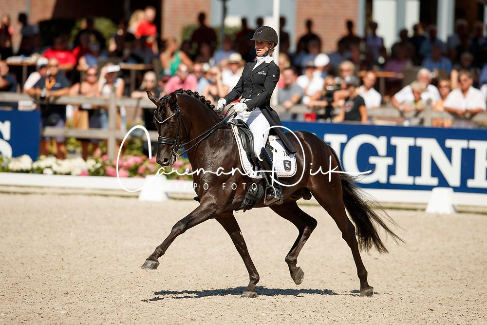 Freese Isabel, NOR, Fuersten Look<br /> World ChampionshipsYoung Dressage Horses<br /> Ermelo 2018<br /> © Hippo Foto - Dirk Caremans<br /> 05/08/2018
