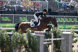 Alexander Edwina, AUS, Lintea Tequila<br /> owner of the horse of Jerome with arms in the air<br /> Olympic Games Rio 2016<br /> © Hippo Foto - Dirk Caremans<br /> 14/08/16