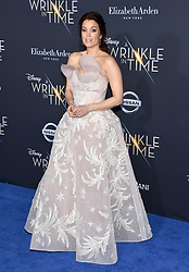 Bellamy Young attends the premiere of Disney's 'A Wrinkle In Time' at the El Capitan Theatre on February 26, 2018 in Los Angeles, California. Photo by Lionel Hahn/AbacaPress.com