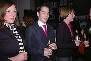 Nephews: Anne Katrin Ahrens and Philipp Kippenberger-Herfeldt and Jessica Halim, Tate Modern. 7 Febriuary 2006. -DO NOT ARCHIVE-© Copyright Photograph by Dafydd Jones 66 Stockwell Park Rd. London SW9 0DA Tel 020 7733 0108 www.dafjones.com