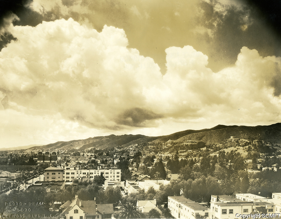 1926 Looking west from Hollywood Blvd. & Cahuenga Blvd.