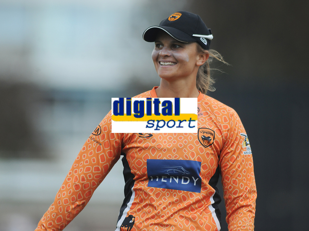 Cricket - 2019 Women's Cricket Kia Super League - Semi-Final: Loughborough Lightning vs. Southern Vipers<br /> <br /> Suzie Bates of Southern Vipers, after getting a catch at County Cricket Ground, Hove.<br /> <br /> COLORSPORT/ANDREW COWIE
