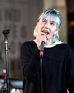 Karólina Einarsdóttir of Icelandic punk band Gróa at Iceland Airwaves