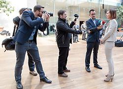 22.03.2018, Congress, Innsbruck, AUT, Gemeinsame PK Tiroler Grüne und Tiroler ÖVP, Regierungsprogramm 2018 bis 2023, im Bild LR Gabi Fischer (DIE GRÜNEN) // LR Gabi Fischer (DIE GRÜNEN) during a press conference of the Tyrolean Greens and the Tyrolean OeVP at the Congress in Innsbruck, Austria on 2018/03/22. EXPA Pictures © 2018, PhotoCredit: EXPA/ Johann Groder