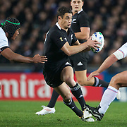 Daniel Carter, New Zealand, in action during the New Zealand V France, Pool A match during the IRB Rugby World Cup tournament. Eden Park, Auckland, New Zealand, 24th September 2011. Photo Tim Clayton...