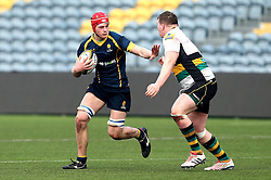 Tom Fawcett (Warwick School) of Worcester Warriors U18 runs with the ball - Mandatory by-line: Robbie Stephenson/JMP - 22/01/2017 - RUGBY - Sixways Stadium - Worcester, England - Worcester Warriors U18 v Northampton Saints U18 - Premiership Rugby U18 Academy League